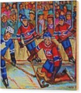 Hockey  Hero Wood Print