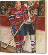 Hockey Stars At The Forum Wood Print