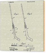 Hockey Stick Mcniece 1916 Patent Art Wood Print by Prior Art Design