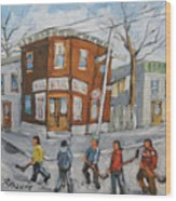 Hockey Town Montreal Created By Prankearts Wood Print