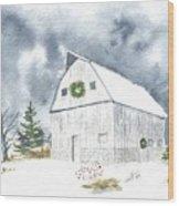 Hoff Horsebarn Wood Print