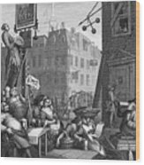 Hogarth: Beer Street Wood Print