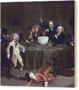 Hogarth: Midnight, 1731 Wood Print