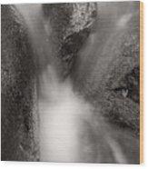 Hogback Creek And Granite Inyo Natl Forest Bw Wood Print by Steve Gadomski