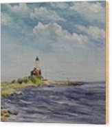 Hogby Lighthouse Wood Print