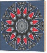 Valkyrie Kaleidoscope 2 Wood Print