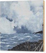 Hogsteinen Lighthouse Wood Print