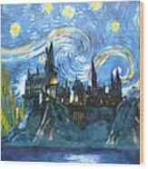 Harry Potter Starry Night Wood Print
