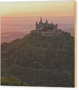 Hohenzollern Castle At Sunset Wood Print by Yair Karelic
