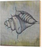 Hoirn In Water Wood Print