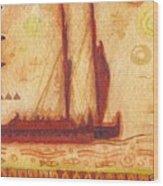 Hokulea At Anchor Wood Print