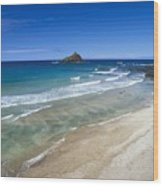 Hokuula Beach Wood Print