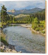 Holback River Wood Print