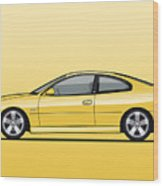 Holden Monaro Vz Cv8 Yellow Wood Print