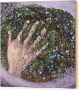 Holding Earth From The Series Our Book Of Common Faith Wood Print