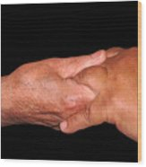 Holding Hands Wood Print