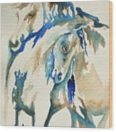 Holding On     War Ponies Wood Print