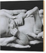 Holding On Wood Print