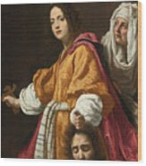 Holding The Head Of Holofernes Wood Print