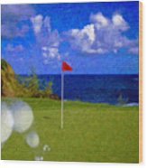 Fantastic 18th Green Wood Print