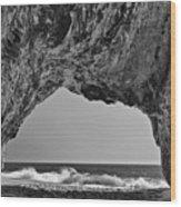 Hole In The Wall Beach Wood Print