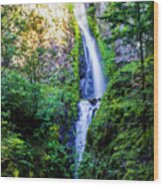 Hole In The Wall Falls Wood Print