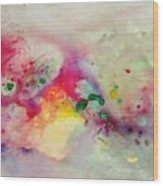 Holi-colorbubbles Abstract Wood Print