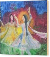 Holi-festival Of Colors Wood Print