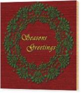 Holiday Card Wood Print
