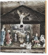 Holiday Christmas Manger Pa 01 Wood Print