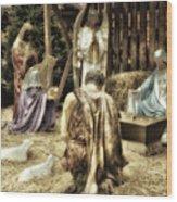 Holiday Christmas Manger Pa 02 Wood Print