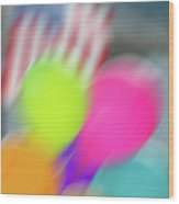 Holiday Decor Blur Wood Print