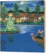 Holiday Delivery At Whisper Lake  Wood Print