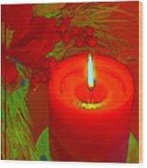 Holiday Greeting Card Cartoon Wood Print