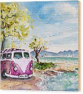 Holiday In Cala Ratjada Wood Print