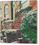 Holiday In The City Wood Print