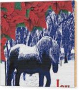 Holiday Joy Card Wood Print
