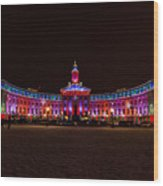 Holiday Lights Of The Denver City And County Building Wood Print