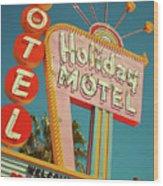 Holiday Motel, Las Vegas Wood Print
