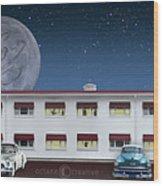 Holiday Motel Wood Print