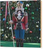 Holiday Nutcracker Wood Print