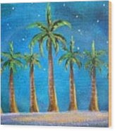 Holiday Palms Wood Print