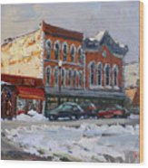 Holiday Shopping In Tonawanda Wood Print