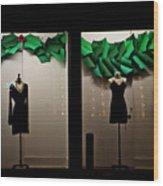 Holiday Window Fashion Wood Print