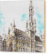 Holland Beautiful Town Wood Print