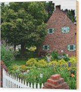 Holland English Garden Wood Print