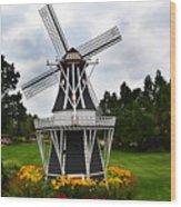 Holland Grey Windmill  Wood Print