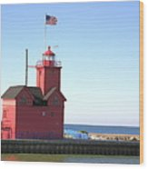 Holland Mi-big Red Wood Print