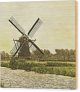 Holland - Windmill Wood Print