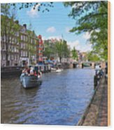 Hollanders On Canal - Color Wood Print
